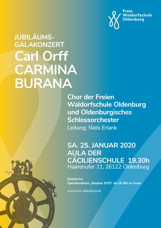 carmina burana jubil umskonzert der fws oldenburg freie waldorfschule oldenburg. Black Bedroom Furniture Sets. Home Design Ideas